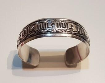 Navajo sterling silver bracelet, Southwestern silver, Southwestern jewelry