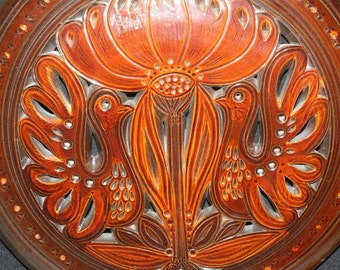art deco style wall plate