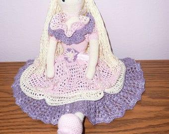 Whimsical Winna crochet doll 16 inches tall