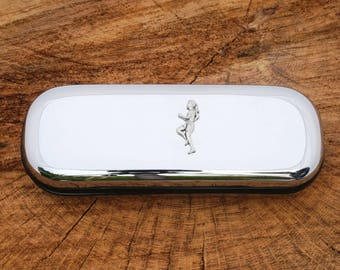 Lady Runner Designed Glasses Spectacle Metal Case Running Gift FREE ENGRAVING