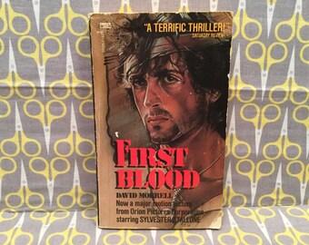 First Blood by David Morrell paperback book John Rambo Movie Novel Sylvester Stallone vintage novelization