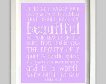 It Is Not Fancy Hair Printable Bible Verse 1 Peter 3