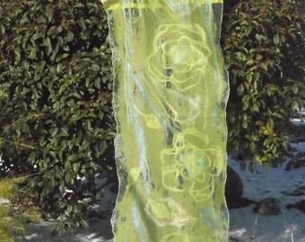 Nuno Felted ,Felt cape, shawl,Handmade item,,One a kind piece of art,Wet felted,Organic materials,  Woman mode,European design