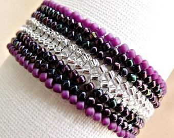 handmade seed bead woven bracelet