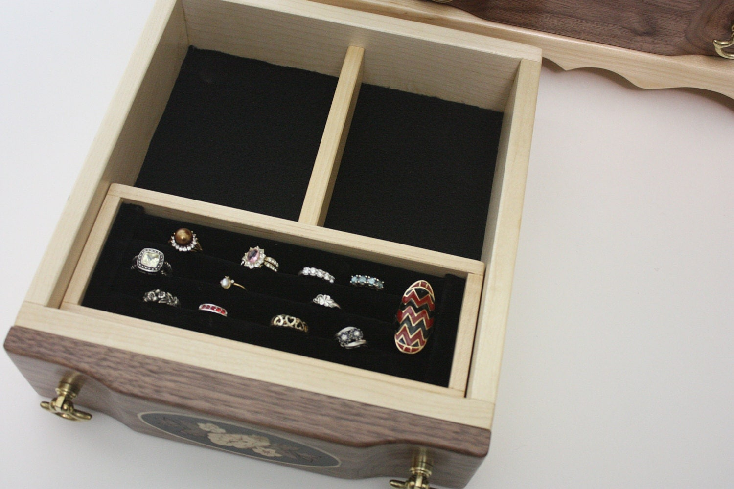 Jewelry Box with Ring Holder Box For Sale