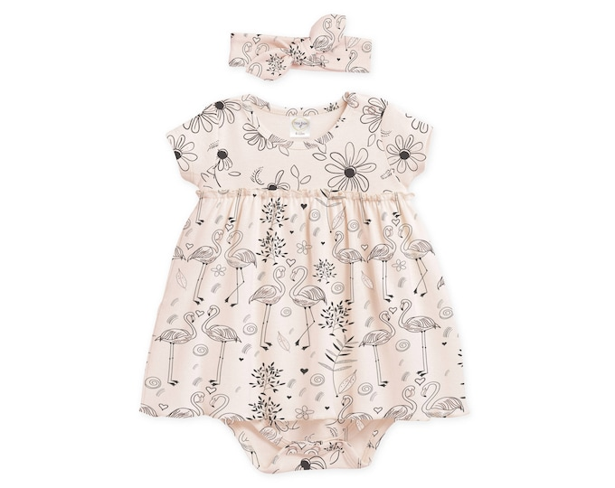 Summer Soecial! Baby Girl Dress Newborn Girl Coming Home Outfit Summer, Baby Skirted Floral Bodysuit TesaBabe BH58SDSFL0000