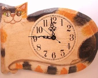 Calico Cat Clock