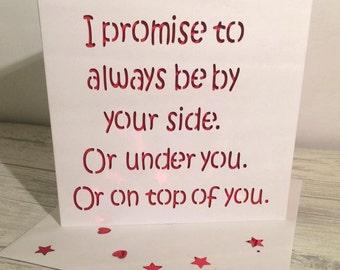 Valentine's card, funny valentine's card, valentine's day card, card for boyfriend, boyfriend valentine, husband valentine, card for him