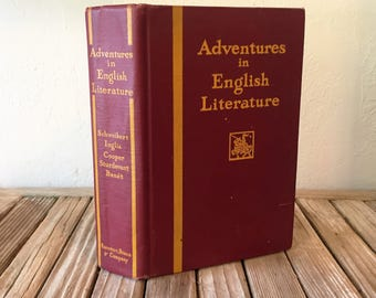 Vintage Book Titled Adventures In English Literature