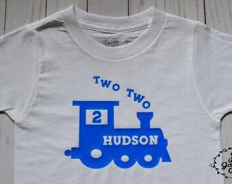 Train t-shirt, 2nd birthday shirt, birthday shirt, boys birthday t-shirt, boys tee, toddler train shirt