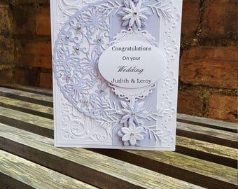 Lilac wedding card