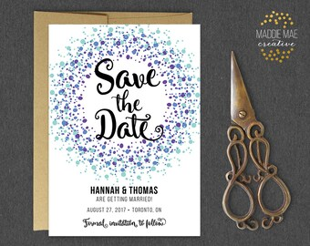 Printable Save the Date // Save Our Date Announcement, Marriage Announcement, Getting Married, Wedding Invitations, Custom Save the Date