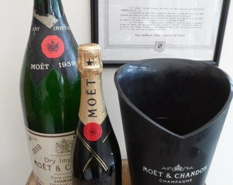 French Moet and Chandon gloss black champagne ice/champagne bucket great design high density plastic construction