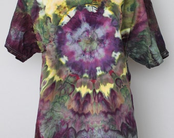 Men's tie dye shirt, ice dyed, Unisex, size Large - Kimmy's Purple mega eye