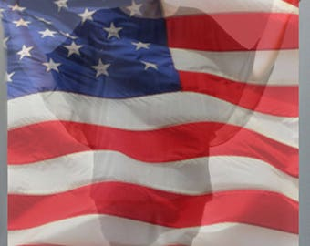 American Flag Scarf-Red White Blue Scarf-USA Flag Scarf-Chiffon Scarf-Voile Scarf-Sheer Scarf-Sheer Wrap/Shawl-Long Scarf-Sarrong-Headwrap