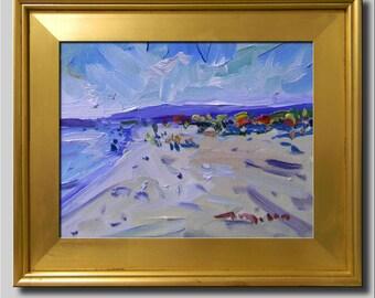 Plein Air Landscape Painting, Impressionist Oil Painting, Seascape, Water Painting, Beach Painting, Abstract Painting