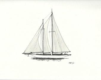 Sailboat #7 (print)