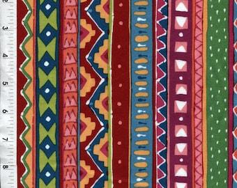 "Andover Fabrics ""Celebration"" Colorful Stripe Fabric"