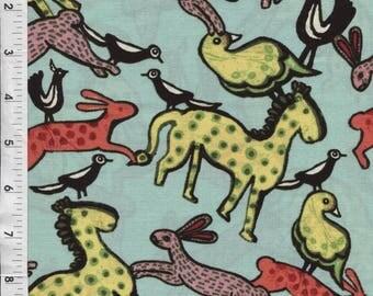 "Fabri-Quilt Sara Trail ""Folkheart"" Animals Fabric"