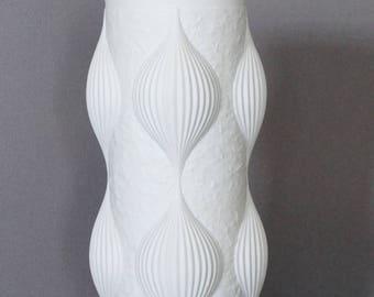 Hutschenreuther Mid Century Bisque Porcelain Pod Vase