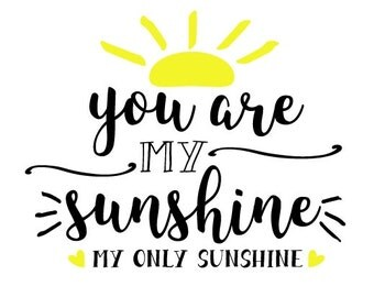DIY You Are My Sunshine INSTANT DOWNLOAD  svg pdf png  Cricut Explore, Silhouette Designer Edition, Adobe  Illustrator, Inkspace, Corel Draw