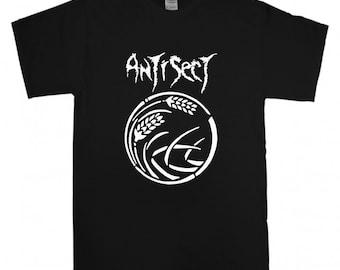 ANTISECT T-shirt New Black t shirt S M L XL XXL  Post Punk Crust shirt Punk Rock Band Logo tee Hardcore Discharge Anticimex