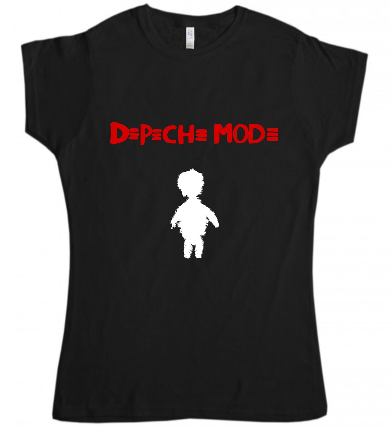 depeche mode t shirt synthpop new wave band shirt women lady. Black Bedroom Furniture Sets. Home Design Ideas