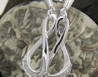 Unusual pair of earrings, silver 925