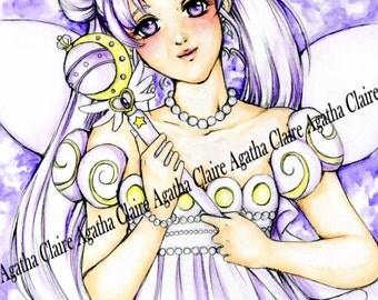 Queen Serenity Sailor Moon fanart print