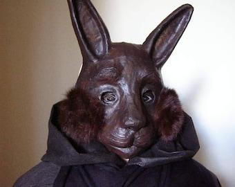 Rabbit mask Bunny mask Hare mask Masquerade mask Paper mache mask Carnival mask Fancy dress Face mask Halloween mask