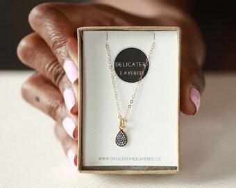 Bridal Necklace, Wedding Jewelry, Vintage Style Necklace, Art Deco Necklace, Bridal Jewelry, Wedding Necklace, Black Necklace