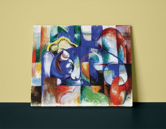Bull | Franz Marc Mirror Wrapped with HP Professional Canvas
