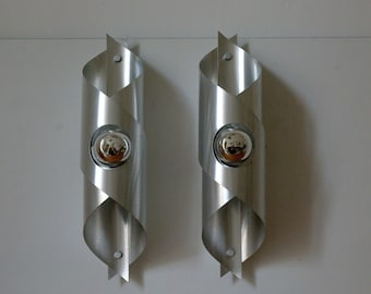 Big pair of sconces vintage 1970, Wall light French Vintage.
