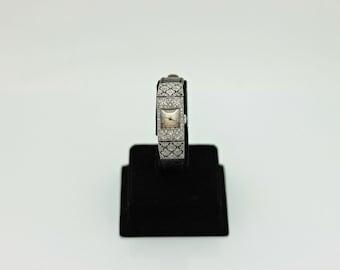 Antique original platinum brilliant decorated for lady wrist watches
