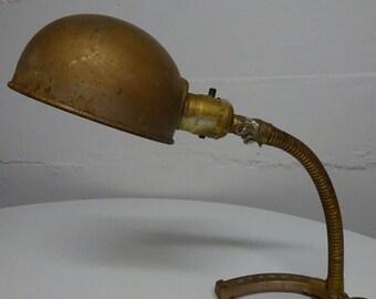 Vintage Rex Electric Mfg Corp Gooseneck Rustic Horseshoe Lamp  FREE SHIPPING
