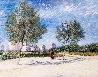 Vincent van Gogh: On the Outskirts of Paris - My Dream. Fine Art Print/Poster. (004201)