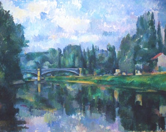 Paul Cezanne: Bridge at Créteil. Fine Art Print/Poster. (004237)
