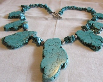 Large Turquoise Slab Necklace