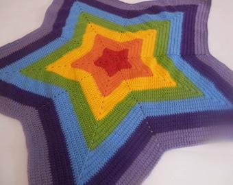 PDF, Crochet, Pattern, Baby star blanket
