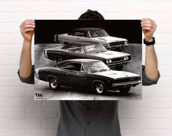 1968 Muscle Cars TorqueMonsters Poster