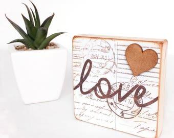 Love Standing Wooden Plaque...