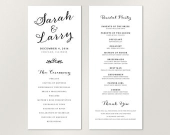 Modern Wedding Program, Elegant Wedding Program, Catholic Wedding Program, Unique Wedding Program, Custom colors, Wedding Stationery