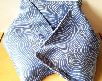 Navy Blue Swirl Heating Pad - Removable Inserts