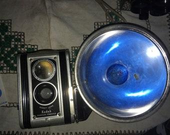 Vintage Kodak Duaflex Camera With Flash Attachment