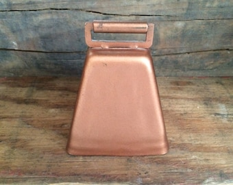Small Cow Bell Rustic Copper Dinner Bell Country Western Farm Animal Farmhouse