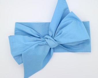 Baby Head Wrap, Baby Headwrap, Light Blue Baby Headband, Baby Turban, Toddler HeadWrap, Girls Headwrap Turban, Light Blue Head wrap, 2244