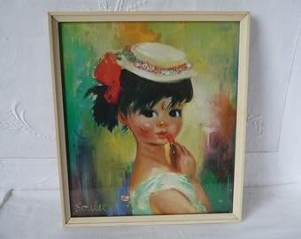 "1960s Soulet Print 'Bridget' 19cms x 21.5cms 7 1/2"" x 8 1/2"""