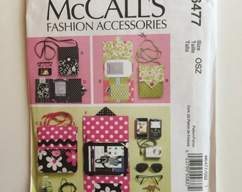 McCall's M6477 Destash Pattern - Kindle Cover Pattern, Kindle Case Pattern, E-Reader Bag Pattern