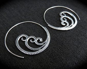 "Hoop Earrings ""Wave"""