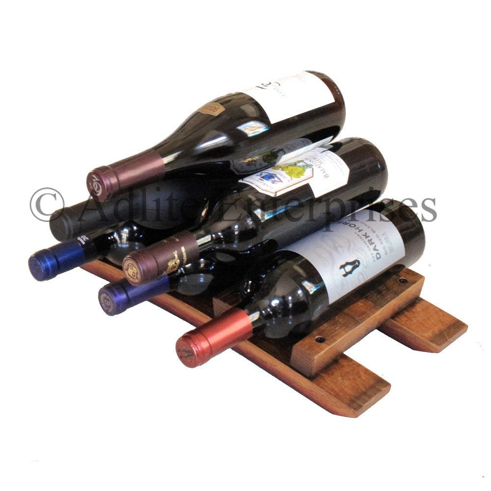 Wine Rack Tabletop Wine Rack Countertop Wine by AdliteCreations